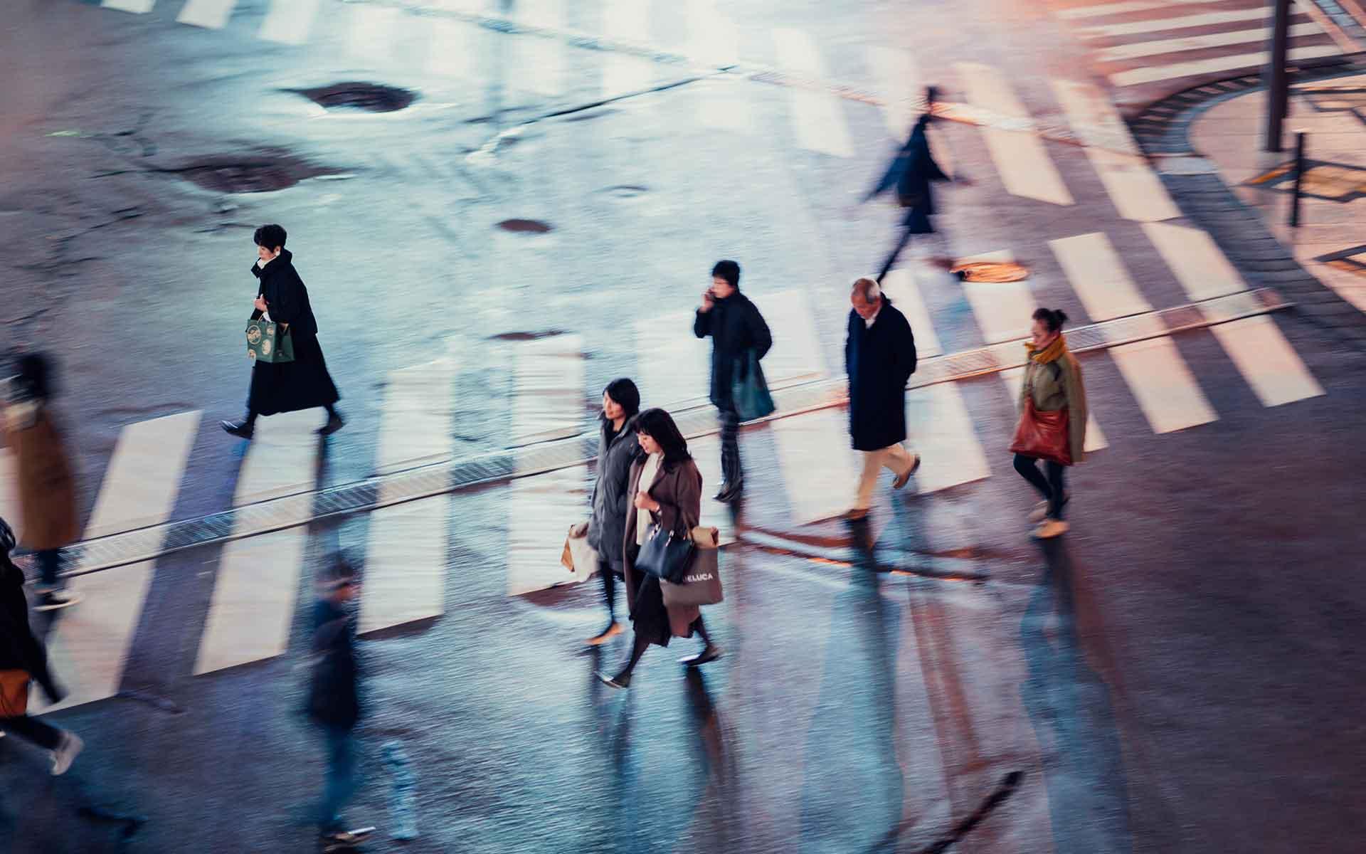 Fußgänger-Übergang